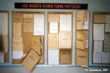 Display of official KGB files and forms in the former building of the Vilnius KGB