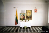 Chapel dedicated to the victims of the genocide in Lithuania in the former building of the KGB, in...