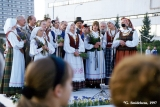 Lithuanian folk group performing at Jonines midsummer celebrations in Vilnius