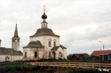 Bell tower and Orthodox church in Suzdal