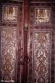 Five hundred year-old wooden door, the entrance to the tomb of Qusam ibn-Abbas