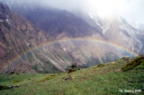 Rainbow in Orto Chashma Valley in Kyrgyzstan