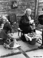 Elderly women selling food in Suzdal