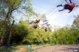 Big swing in a theme park in Irkutsk