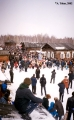 Procession with a scarecrow doll during Maslenitsa, the end of winter Russian holiday, in the...