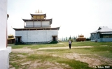 Back of the Buddhist temple in the dat-san (Buddhist monastery) near Ulan-Ude