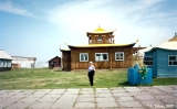Building in the dat-san (Buddhist monastery) near Ulan-Ude