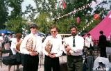 Three musicians from the Irkutsk Orcestra during celebrations of the City's Day