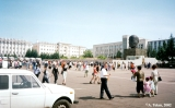 Central plaza in Ulan-Ude with an oversized bust of Lenin on the right