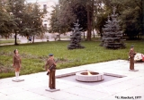 Children standing guard over the Eternal Flame in Novgorod