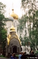 Prokhorov Chapel in the Novodevichy Convent in Moscow, with the Cathedral of the Virgin of...