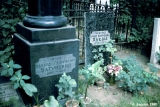 Graves of the 20th-century poet Bagritsky (on the left) and the 20th-century writer Olesha (on the...