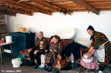 Karachay veteran with his family in the village of Dzhingirik