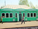 Convenience stores at a train station in  Siberia