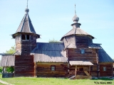 Church of the Resurrection in the open-air museum of wooden architecture in Suzdal