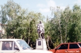 Monument to Kurman Kurdzhiev,  the first chairman of the Soviet  reginal executive committee in...