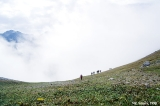 Hikers in the Akkol Pass