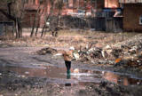 Child walking in Irkutsk suburbs