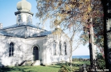 Russian Orthodox chuch on the shore of Lake Peipus in the village of Varnja