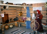 Display of the interior of a traditional russian rural home in the Children's Museum in Vladimir