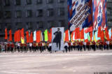 Carrying a portrait of Lenin in a May Day parade in Irkutsk