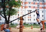 Playground in the city of Vladimir