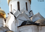 Detail of the Cathedral of the Blessed Virgin's Nativity in the Saveno-Storozhevsky Monastery in...
