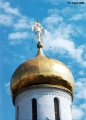 Cupolas of the Cathedral of the Blessed Virgin's Nativity in  the Saveno-Storozhevsky Monastery in...