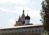 Belltowers (on the left) and an onion dome on the Church of the Transfiguration of Our Lord in ...