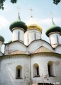Cupolas of the Cathedral of the Transfiguration in the Euthymius Monastery in Suzdal