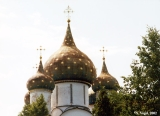 Cupolas of the Cathedral of the Nativity in the Suzdal Kremlin