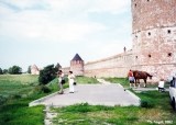 Towers and fortified walls of  the Euthymius Monastery in Suzdal