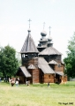 Church of the Transfiguration in the museum of wooden architecture in Suzdal