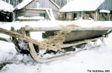 Homemade sledge in the village of Krapivna