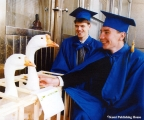 College graduates with geese in the Komi Republic