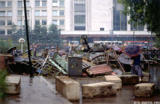 Barricade during the coup d'etat in Moscow, 1991