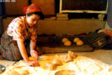 Kneading the dough for non (bread) in Sahvron
