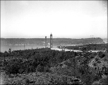 Approaching the Tacoma Narrows showing the towers for the Tacoma Narrows Bridge in the distance,...