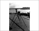 Motion camera used to record movement of the Tacoma Narrows Bridge by Professor Farquharson, 1940