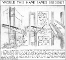 'Would this have saved bridge?', November 8, 1940