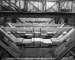 Caisson for Pier 5, Tacoma Narrows Bridge construction, March 22, 1939