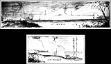 Drawings of the east and west anchorages of the Tacoma Narrows Bridge, ca. 1939