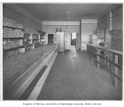 Food bank interior, probably in the Fremont neighborhood of Seattle, 1932