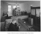 Food bank interior, probably on S.W. Admiral Way, West Seattle neighborhood, Seattle, ca. 1934