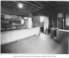 Food bank interior, probably on Phinney Avenue North in the Greenwood neighborhood of Seattle, May...