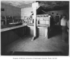 Food bank interior, probably on 24th Avenue N.W. in the Ballard neighborhood of Seattle, June 13,...
