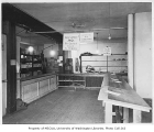 Food bank interior, probably in the Columbia City neighborhood of Seattle, ca. 1934