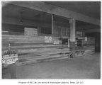 Food bank interior, possibly in Seattle, 1932