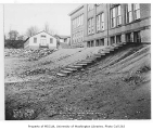 B.F. Day School exterior and grounds before repairs, Fremont neighborhood, Seattle, October 23,...