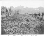 Road construction and regrading crew working on Dawson Street, Bothell, December 13, 1934